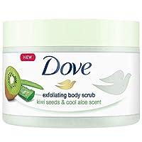 Dove 多芬 身體去角質磨砂膏,4件套,獼猴桃/清涼蘆薈,225毫升