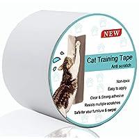 防划伤猫训练胶带,*透明双面胶带,保护您的沙发、门和家具 3-Inches x 16 Yards