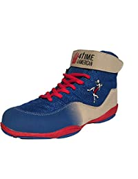 4-Time All American The Patriot,蓝色摔跤鞋青少年尺码 1-6 Red, White, Navy Blue, 5.5 M US