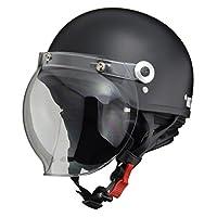 LEAD领先工业 摩托车头盔 露脸式 CROSS 带防护罩半头盔 均码(57-60cm以下) CR-760 FREE (頭囲 57cm~60cm未満) -