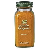 Simply Organic 姜黄根粉 USDA Organic认证 2.38盎司/67克(3件)