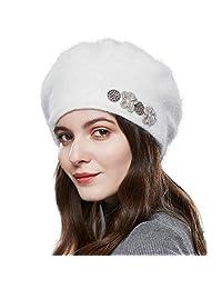 SOMALER 冬季法式贝雷帽 女式 * Angora 羊毛经典贝雷帽