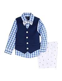 Nautica 婴儿男孩背心衬衫和短裤套装