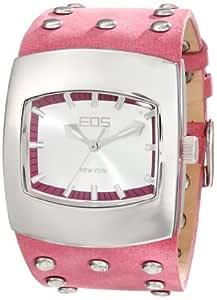 EOS New York 中性款 47 LFUS Helix Fuchsia 皮革表带手表