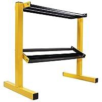 BalanceFrom 2 层易抓握哑铃架多级重量存储收纳架,适用于家庭健身房,600 磅容量