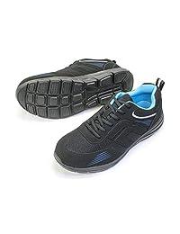 [力王] 带树脂鞋头轻量*运动鞋(系带) RS170-BK