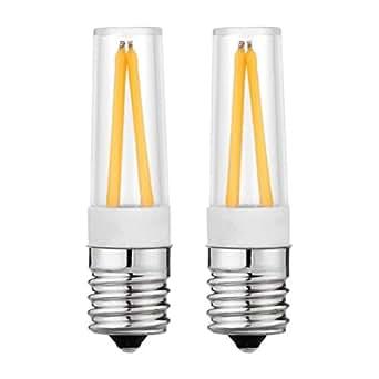 E17 灯芯灯灯泡 100-130V AC E17 爱迪生 COB 灯 5 瓦日光 6000k 适用于冷风、吊扇、微波炉灶灯 2 件装 E17-5w-2700k 17x64mm E17-COB-5WW