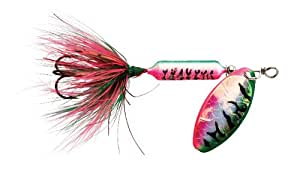 Wordens Rooster Tail Lure, 1/16-Ounce, Tinsel Rainbow Tiger