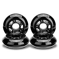 NONMON 轮滑 72MM/80MM 85A 黑色 4 件装,儿童及青少年更换轮