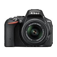尼康 D5500单反数码相机黑色24.2 MP + AFS DX 18 – 55 g VRII + 书 + Estuche + PALO 自拍