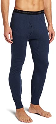 Duofold Men's Mid Weight Double Layer Thermal Pant, Blue Jean, S