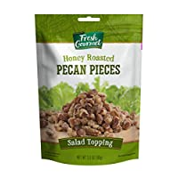 Fresh Gourmet Pecan Pieces, Honey Roasted, 3.5 Ounce
