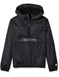 Starter Boys' Popover Packable Jacket, Black, S (6/7)