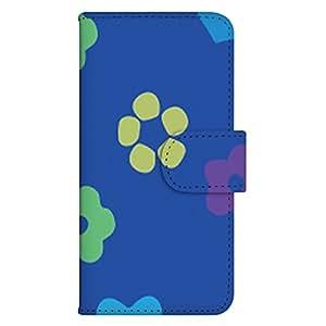 智能手机壳 手册式 对应全部机型 印刷手册 wn-302top 套 手册 花朵图案 UV印刷 壳WN-PR298296-ML URBANO L01 图案G