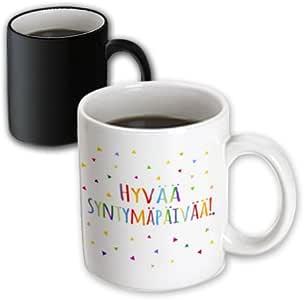 inspirationzstore 许多不同的语言–hyvää syntymäpäivää–finnish. 生日快乐彩色芬兰文字–马克杯 黑色/白色 11 oz
