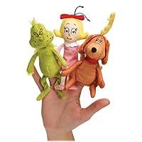 Dr. Seuss The Grinch Finger Plush Puppet Set