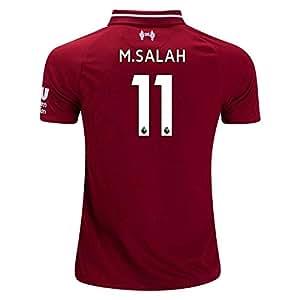 棕色松鼠 M. Salah 11 利物浦主场 18/19 足球运动衫 男式 颜色 红色 S 码