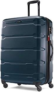 Samsonite 新秀丽 Omni Pc Hardside 可扩展行李箱,带万向轮,Teal,Checked-Large 28-Inch