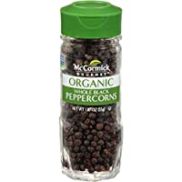 McCormick Gourmet Organic Black Peppercorns Tellicherry, 1.87 oz