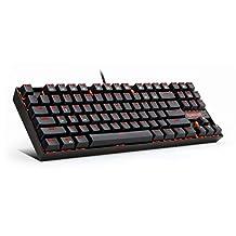 Redragon KUMARA虹龙弑神背光机械游戏键盘(黑色) Red Backlight (Black)