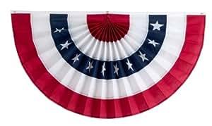 独立捆绑与旗帜 5 条纹褶皱扇,带星星,红色/白色/星星/白色/红色 24 by 48-Inch 1CFAN24-5RWSWR