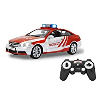 Jamara 405127 梅赛德斯-奔驰 E 350 Coupe 消防车 Unisex-Kinder Notarzt Silber/Rot