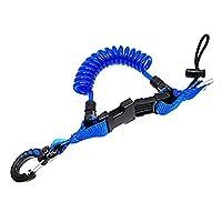 Scuba Choice 潜水鲨鱼线绳,带 1 个按扣和快速释放扣蓝色
