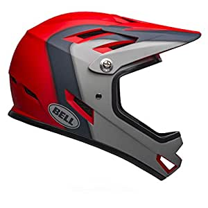 Bell Sanction BMX/Downhill 头盔 中 Presences 哑光深红色/石板/灰色