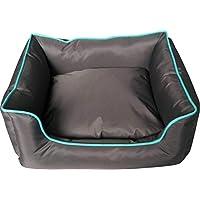 Classic Pet Products 狗床,长方形,防水,灰色/绿松石