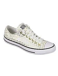 Converse 女式鞋子 CHUCK TAYLOR OX 低运动鞋帆布制造