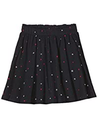 Scotch & Soda 女孩裙子全身印花平纹针织紧身衣带弹性腰带