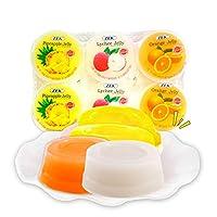 马来西亚原装进口果冻儿童果冻零食 (凤梨 荔枝 香橙6连杯*6)
