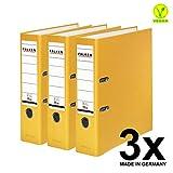 Falken PP 彩色塑料文件夹3件和5件装 3er Pack breit 黄色