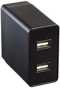 AmazonBasics one-port USB 插座充电器2.4A 2件装–黑色 黑色