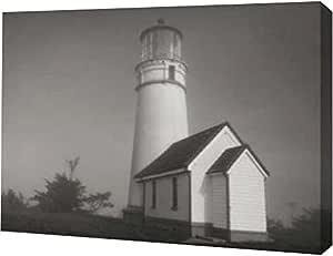 "PrintArt GW-POD-11-PSVIT-266-16x12 ""Misty Lighthouse III""由 Vitaly Geyman 创作画廊装裱艺术微喷油画艺术印刷品 20"" x 15"" GW-POD-11-PSVIT-266-20x15"