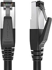 KabelDirekt - Cat 8 网线 - 10 米 - 40 千兆以太网,LAN & Patch 电缆(at 8.1 适用于高速网络,交换机,路由器,调制解调器,PC带 RJ45 输入