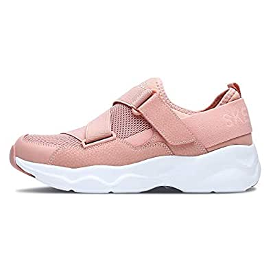 Skechers 斯凯奇 SKECHERS D'LITES AIRY系列 女 休闲跑步鞋 时尚橡筋一脚蹬运动鞋 88888177-CRL 珊瑚色 36 (US 6)