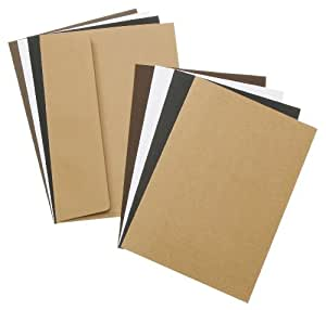 Darice DT-GX-7500-14 24-Pack David Tutera Celebrate Step 1 Card/Envelope Set, A7, Neutrals