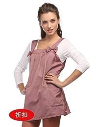 优加防辐射服银纤维孕妇防辐射秋装新款1500送防辐射肚兜d001 (XL, 粉色)