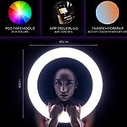 Rollei Lumens LED 環燈 | 90 瓦 RGB LED 環燈 適用于化妝 自拍和攝影工作室28508  Ringleuchte