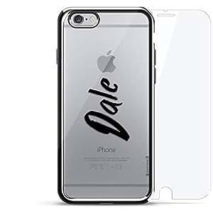 奢华镀铬系列 360 套装:设计师手机壳 + 钢化玻璃 适用于 iPhone 6/6s 银色LUX-I6CRM360-NMDALE1 NAME: DALE, HAND-WRITTEN STYLE 银色