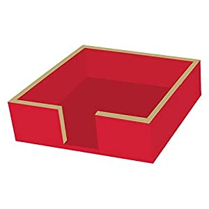 """Paperproducts Design Laquered 木餐巾架 Red/Gold 5"""" x 5"""" COMINHKPR88509"""