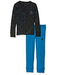 Odlo 儿童套装温暖儿童衬衫 l/s 长裤子