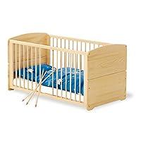 Pinolino – 111002 – 婴儿床 traeumerle 140 x 70厘米 – 带3滑动横木 , 从 vollmassiver 云杉 , 未加工
