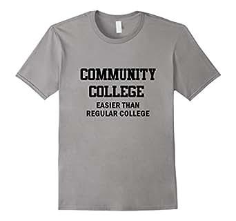 Community College T-Shirt 蓝灰色 Male Large