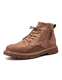 FOLOMI 跨境专供 加绒防滑马丁靴 英伦马丁鞋 高帮鞋 大头鞋休闲鞋