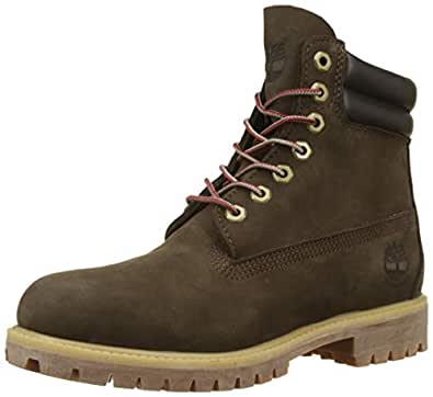Timberland 添柏岚 男士 6英寸/15.24cm 双领防水经典靴子, (Dark Brown Nubuck D54), 6.5 UK