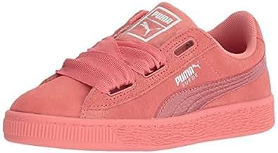 PUMA 彪马 中性儿童 麂皮绒心形休闲鞋 Shell Pink/Shell Pink 2.5 M US Little Kid