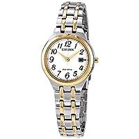 Citizen 西铁城 EW2486-52A 女式光动能白色表盘 TT 手链手表