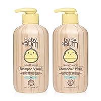 Baby Bum 凝胶洗发露和沐浴露 - 天然香料 - 无泪 - 敏感肌肤肥皂,椰子油和芦荟 - 12 液体盎司(2 瓶装)
